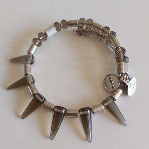 Alex & Ani Depth of the Wild spike bracelet silver